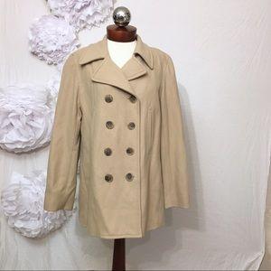 J CREW wool peacoat in camel jacket L